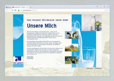 Screenshot einer Website von gutlerbach.de